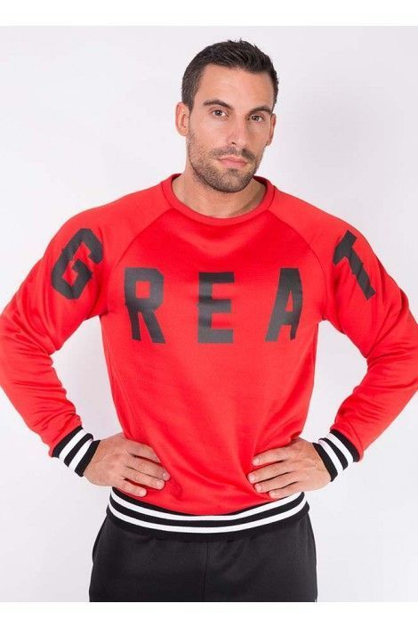 SUDADERA GREAT ROJA