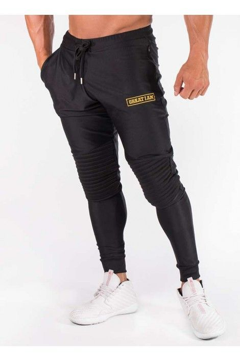 PANTALON LARGO GOLDEN NEGRO