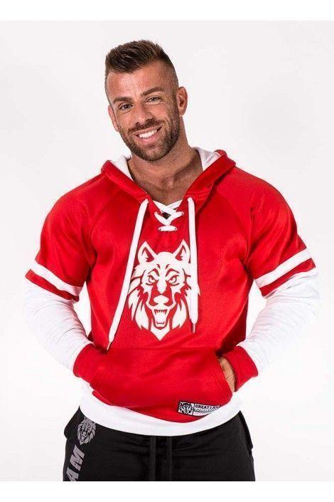 Hoodie Wolf Roja