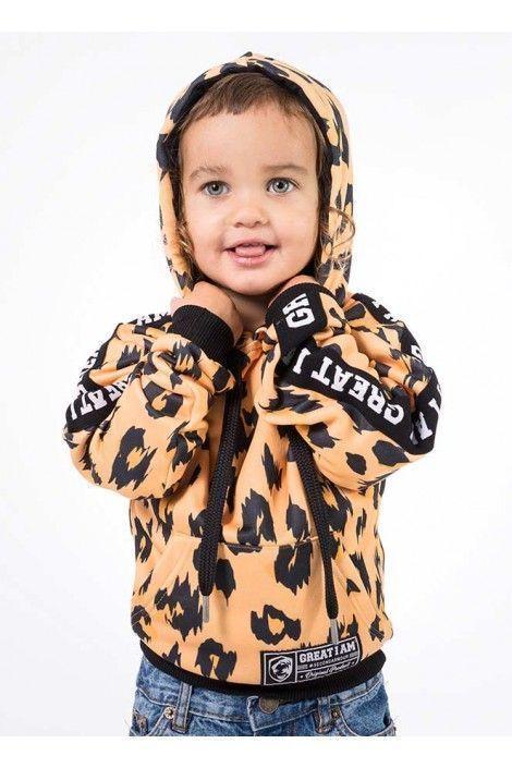 Hoodie Leopardo Junior