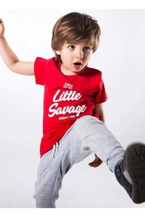 Camiseta Manga Corta Little Savage