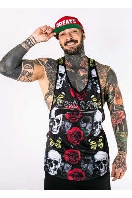 Camiseta Tirantes Roses Skull