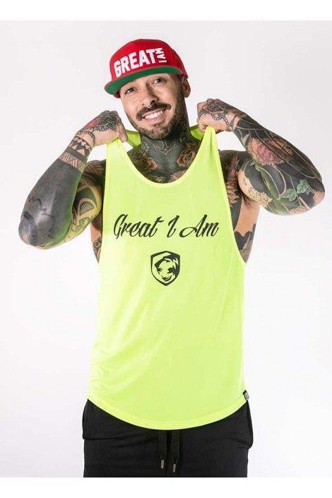 Camiseta Tirantes Neon Amarillo