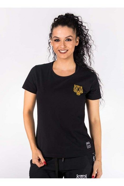 Camiseta Negra Dorada
