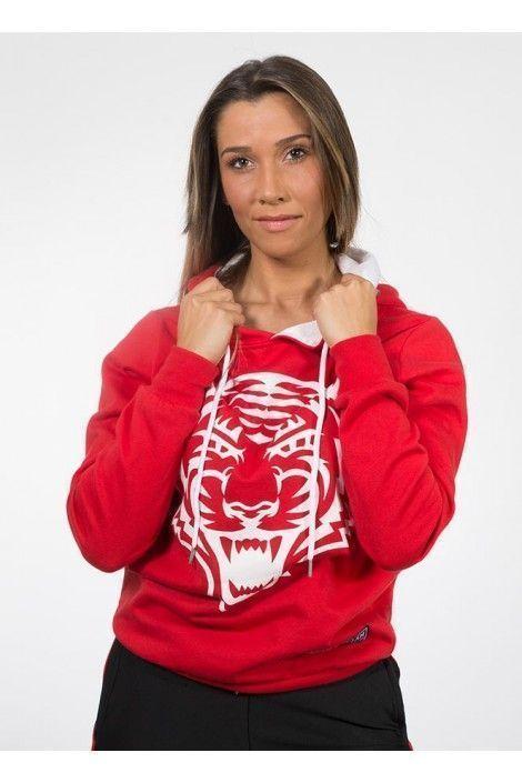 Hoodie Tiger Roja