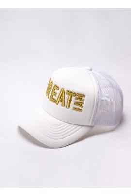 Gorra Gold and White