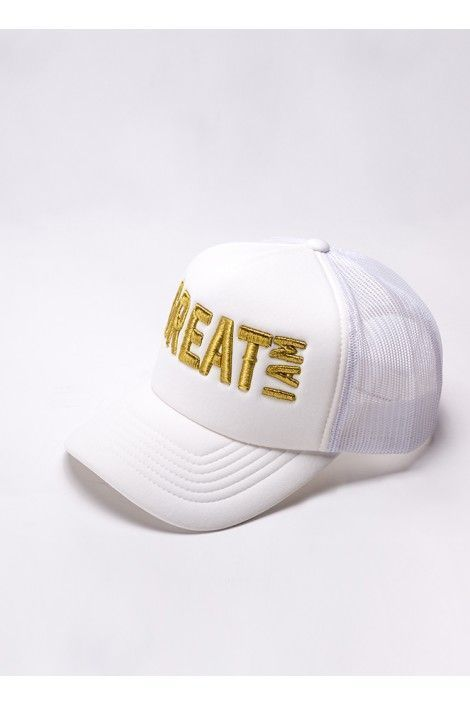 Gorra Gold and White