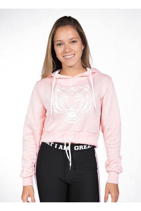Hoodie Corta Tiger Rosa