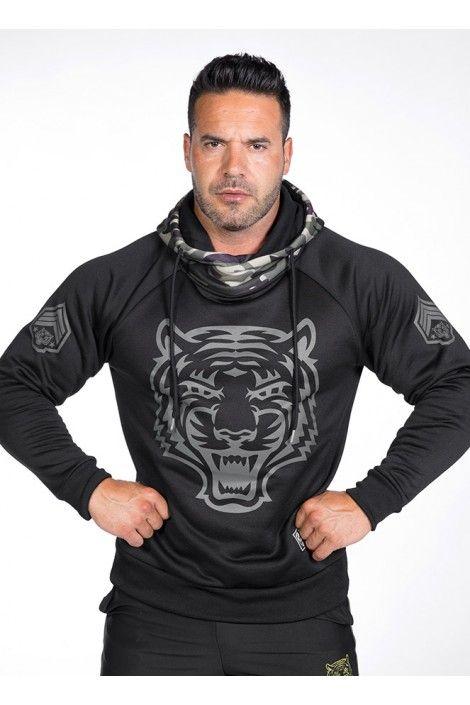 Hoodie Military Tiger
